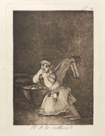Офорт Goya - Capricho 4. El de la rollona