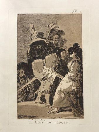 Офорт Goya - Capricho 6. Nadie se conoce