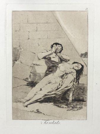 Офорт Goya - Capricho 9. Tantalo
