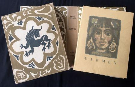 Иллюстрированная Книга Clavé - CARMEN. Lithographies originale de Clavé