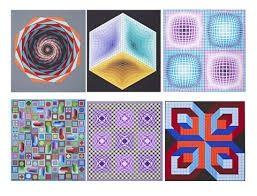 Сериграфия Vasarely - Carpeta Jalons
