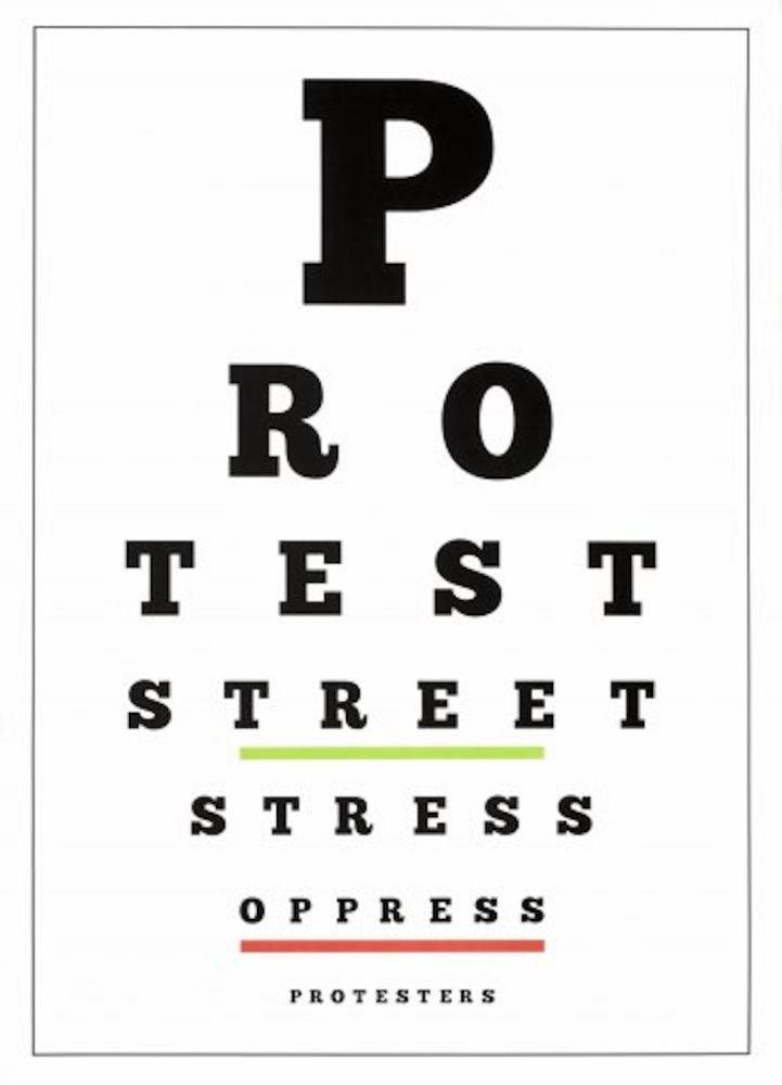 Литография Navarro - Carta Visual (Protest)