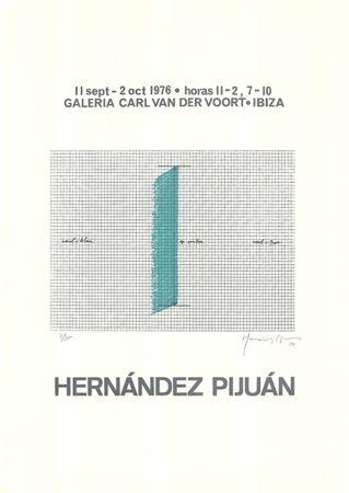 Сериграфия Hernandez Pijuan - Cartel de la exposición Galería Carl van der Voort, Ibiza