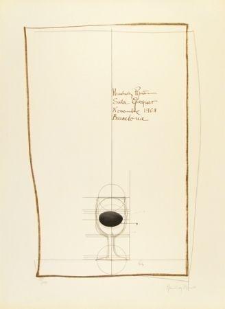 Литография Hernandez Pijuan - Cartel exposición Sala Gaspar