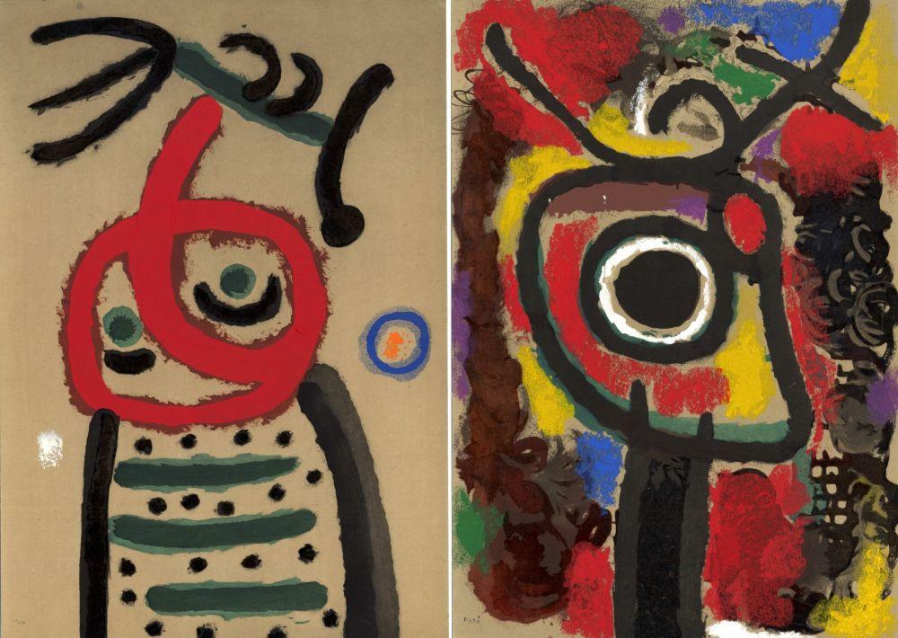 Иллюстрированная Книга Miró - CARTONES. New-York 1965