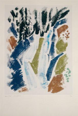 Офорт Masson - Cascade bleue
