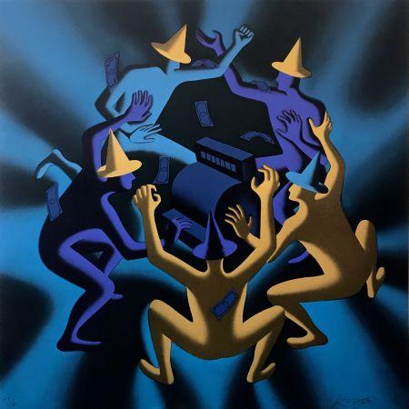 Сериграфия Kostabi - CASH DANCE (BLUE)