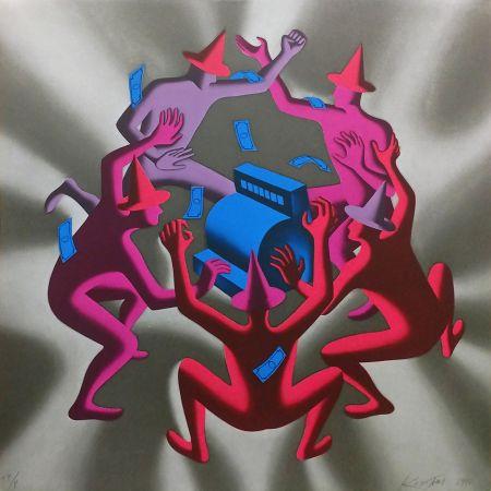 Сериграфия Kostabi - CASH DANCE (GREY)