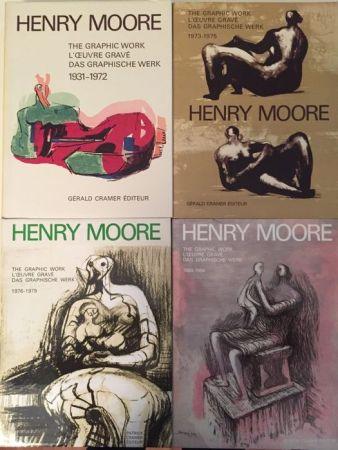 Иллюстрированная Книга Moore - Catalogue Raisonné of Henry Moore Graphic Work 1931 - 1984 (4 Volume Set)