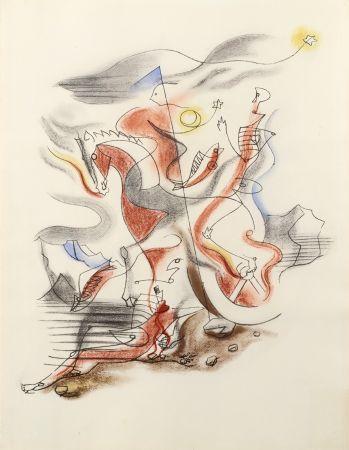 Литография Masson - CAVALIER, 1933