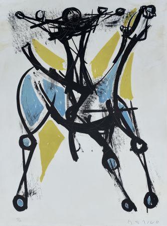Литография Marini - Cavalier et Cheval, Jeune et Blue, 1952