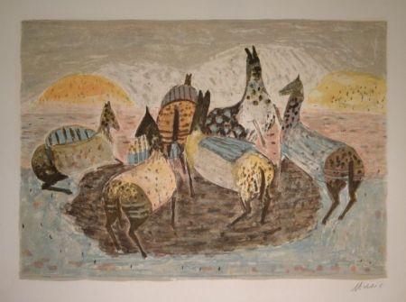 Литография Music - Cavallini Che Giacano / Spielende Pferde