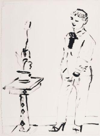 Литография Hockney -  Celia Amused