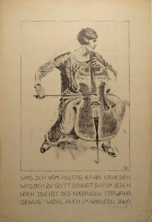 Литография Amiet - Cello-Spielerin