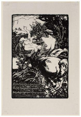 Гравюра На Дереве Lepere - Centaur