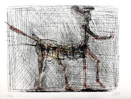Литография Cesar - Centaure - Hommage à Picasso