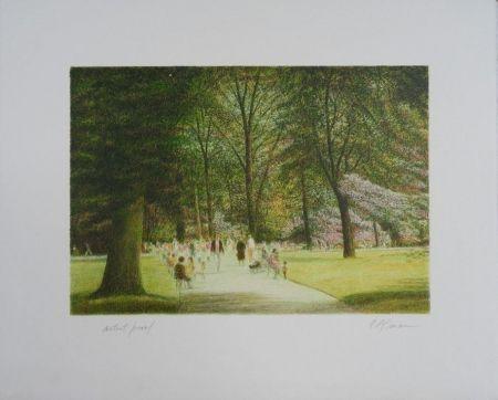 Литография Altman - Central Park - Terrace Drive
