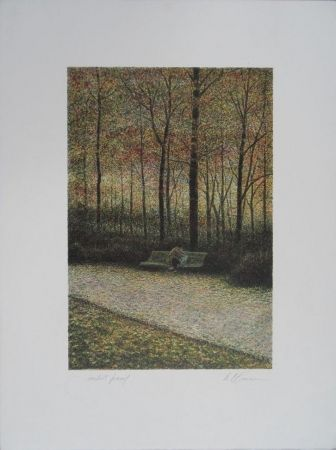 Литография Altman - Central Park - The Lovers