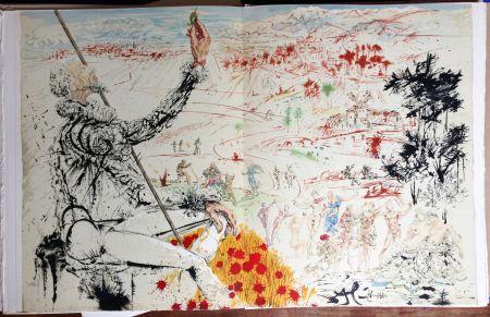 Иллюстрированная Книга Dali - Cervantès : DON QUICHOTTE DE LA MANCHE (ex. comprenant 13 lithographies originales).