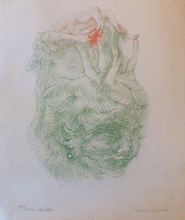 Литография Bellmer - CHAPEAU MAIN