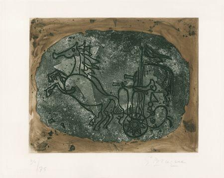 Офорт Braque - Char noir