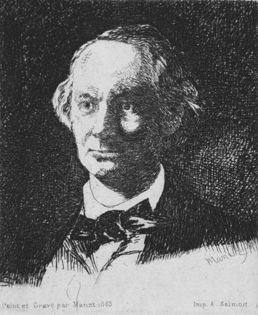 Офорт Manet - Charles Baudelaire de face