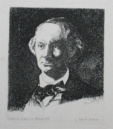 Гравюра Manet - Charles Baudelaire, Full Face III