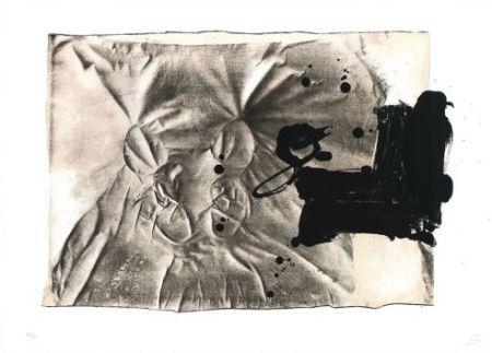 Литография Tàpies - Chaussures sur chaise