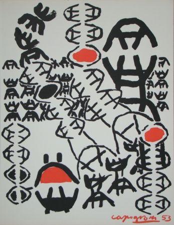 Литография Capogrossi - Chemin de croix, 1953