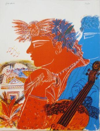 Литография Fassianos -  Chemins d'arménie
