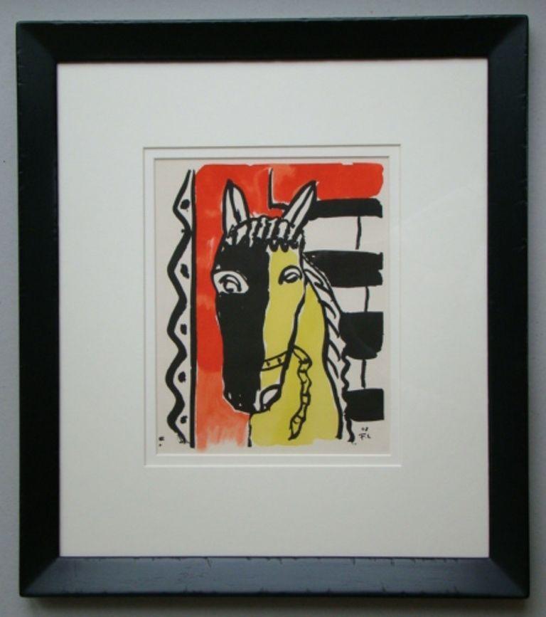 Трафарет Leger - Cheval sur fond rouge, 1948