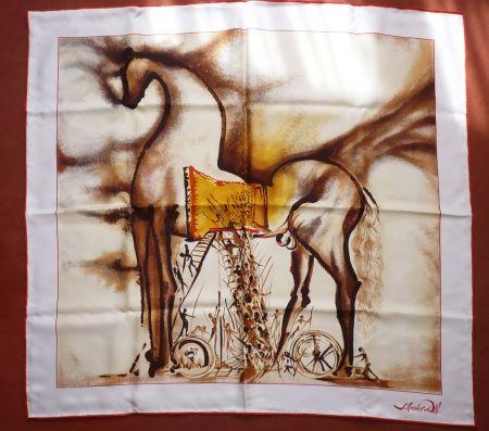 Сериграфия Dali - Chevaux daliniens - Cheval de Troie