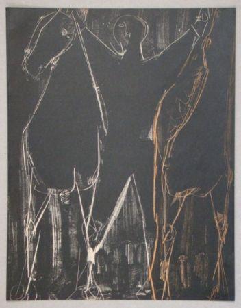 Литография Marini - Chevaux Et Cavalier