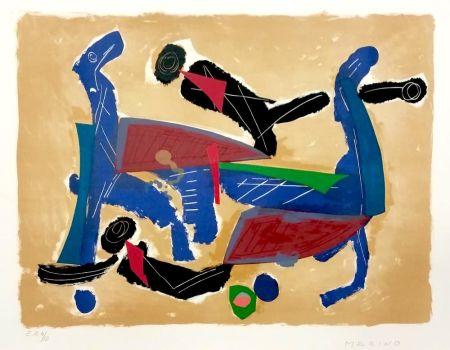 Литография Marini - Chevaux et cavaliers