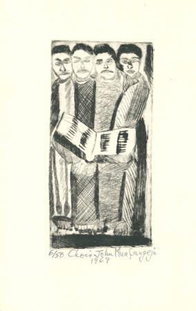 Гравюра Muafangejo - Choir