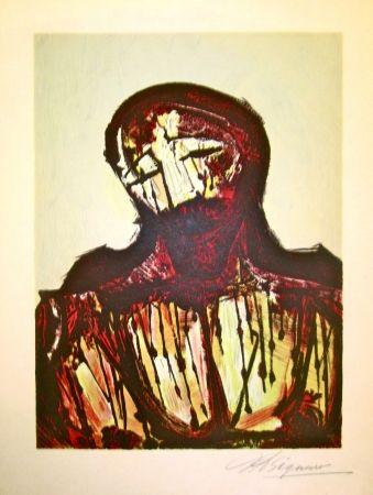 Литография Siqueiros - Christ Portrait