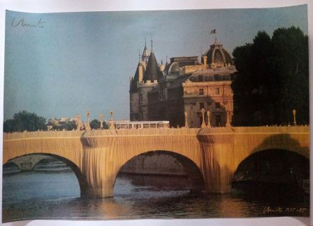 Афиша Christo - Christo's Wrapped Pont Neuf Paris - Handsigned