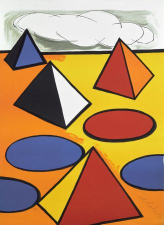 Литография Calder - Ciel d'orage - 1976