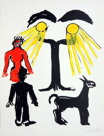 Литография Calder - Cinema / Hommage a Man Ray