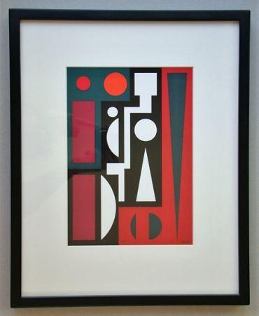Сериграфия Herbin - Cinq, 1954