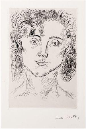 Офорт Matisse - CINQUANTE DESSINS. GRAVURE ORIGINALE SIGNÉE : La fille de l'artiste (1920).