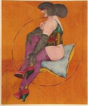 Литография Lindner - Circle and Pillow