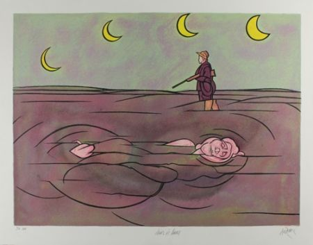 Литография Adami - Clair de lune
