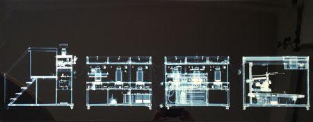 Многоэкземплярное Произведение Delvoye - Cloaca x rayed B/W