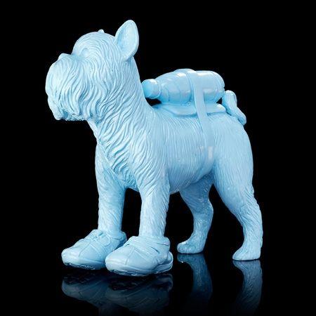 Многоэкземплярное Произведение Sweetlove - Cloned blue Griffon Bruxellois with pet bottle