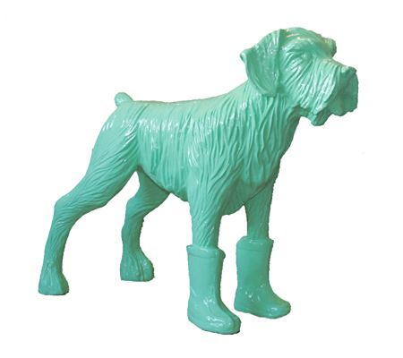 Многоэкземплярное Произведение Sweetlove - Cloned pistachio dog with plastic boots