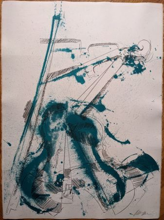 Литография Arman - Colère de violon I