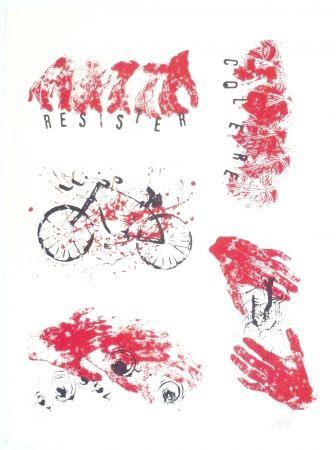 Литография Arman - Colère, Résister