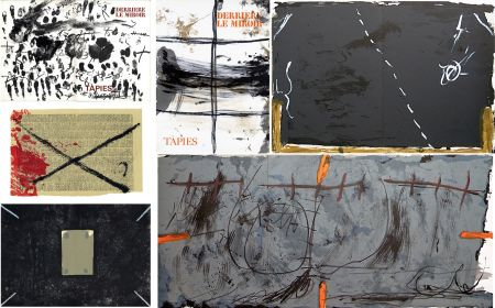 Иллюстрированная Книга Tàpies - COLLECTION COMPLÈTE des 7 volumes de la revue DERRIÈRE LE MIROIR consacrés à Antoni Tàpies: 30 LITHOGRAPHIES (de 1967 à 1982).