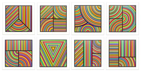 Линогравюра Lewitt - Color Bands (portfolio of 8)